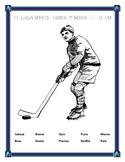 """""""El Jugador de Hockey""""- La Ropa y El Cuerpo-Winter Olympics-  Body Parts Spanish"""