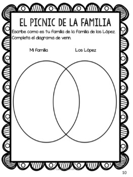 """El Picnic Familiar"" Story in Spanish to review family vocabulary"