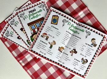 """El Restaurante Fantástico"" (Spanish Role-Play Game with Flashcards)"