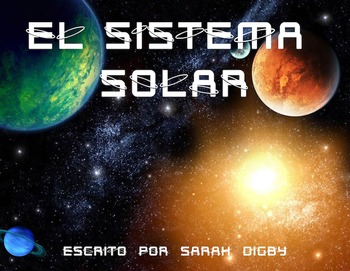"""El Sistema Solar"" Original Spanish Book/Slideshow, 3rd-Gr. Level, w/ Worksheets"