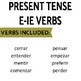 Review Game Pack for Present Tense E-IE Stem-Changing Verbs