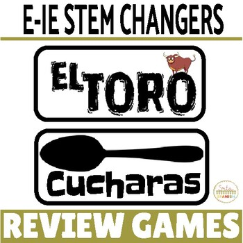 Present Tense E-IE Stem-Changing Verbs Review Game Pack