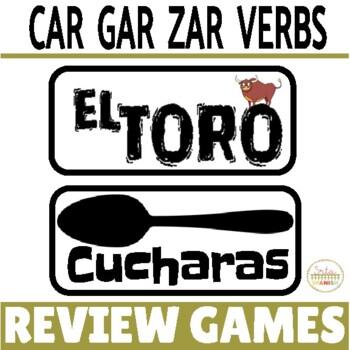 Review Game Pack for Preterite Tense CAR/GAR/ZAR Verbs
