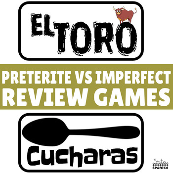 Review Game Pack for Preterite & Imperfect Regular Verbs