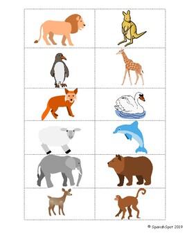 ¿El canguro tiene mamá?- Flashcards, memory matching, visuals, & coloring page