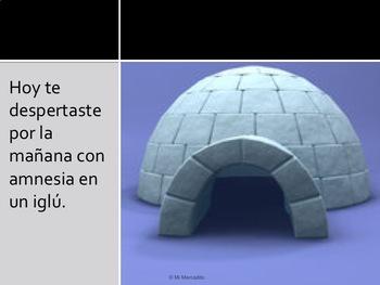 """El iglú"" Spanish Past Tense Writing Prompt"