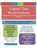 Elapsed Time Word Problems - hour increments  - VA SOL & Common Core
