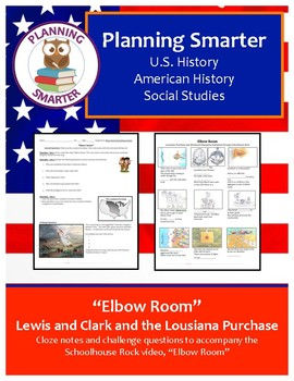 """Elbow Room"" – Lewis and Clark, LA Purchase; notes and questions"