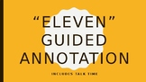 """""""Eleven"""" Guided Annotation/Figurative Language Hunt"""