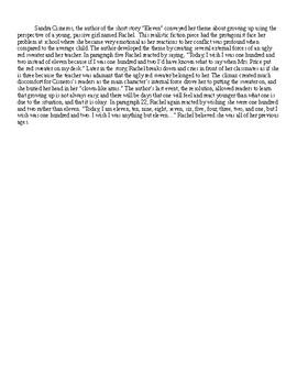 """Eleven"" Short Story Theme Analysis"