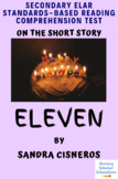 """""""Eleven"""" by Sandra Cisneros Multiple-Choice Reading Compre"""