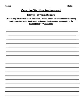 """""""Eleven"""" by Tom Rogers Creative Writing"""