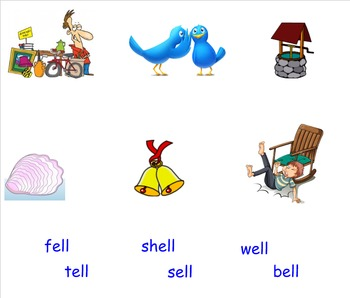 -Ell Word Family Smartboard Activities