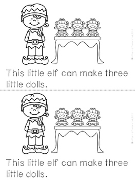 """Elves at Work"" Emergent Reader (A Christmas/December Dollar Deal)"