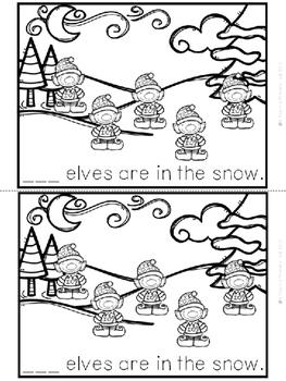 """Elves in the Snow"" Emergent Reader (A Christmas/December Dollar Deal)"