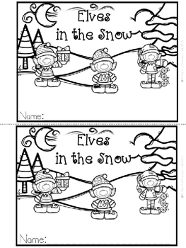 """""""Elves in the Snow"""" Emergent Reader (A Christmas/December"""