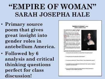 """""""Empire of Woman"""" - Sarah Josepha Hale - USH/APUSH"""