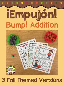 ¡Empujón! ~ Bump! Addition 4 Seasons Bundle in Spanish