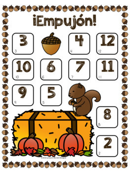 ¡Empujón! ~ Fall Bump Addition in Spanish