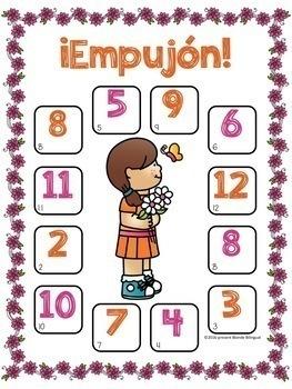 ¡Empujón! ~ Spring Bump Addition in Spanish