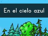 """""""En el cielo AZUL"""" Pre-Primer Sight Word Video, Slideshow & PDF"""