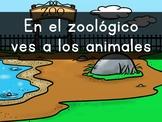 """""""En el zoológico VES animales"""" Pre-Primer Sight Word Video, Slideshow & PDF"""