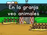 """En la granja VEO animales"" Pre-Primer Sight Word Video, Slideshow & PDF"