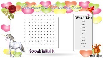 ★ Enchanted Enunciation - /h/ Articulation Word Search ★