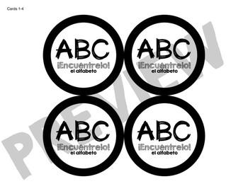 ¡Encuéntrelo: El alfabeto! A Spot the Match Game for Spanish Alphabet Vocab!