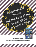 """""""Encyclopedia Brown and the Case of the Secret UFOs"""" Novel Unit"""