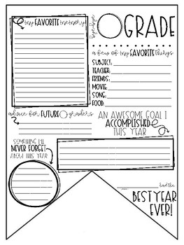 *End of the Year* Pennant {FREEBIE}
