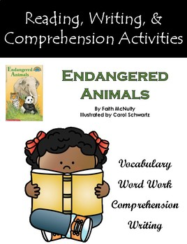 """""""Endangered Animals"""" Activities for Reading, Writing, and Comprehension"""