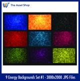 'Energy Backgrounds' Set #1 (Digital Clip Art)