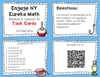 Engage NY/ Eureka Math  Module 6: Lesson 10 Math Center-Task Cards