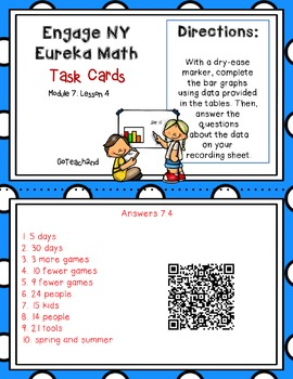 Engage NY-Eureka Math  Module 7: Lesson 4 Task Cards