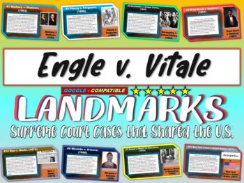-Engle v. Vitale- Landmark Supreme Court Case (PPT, handou