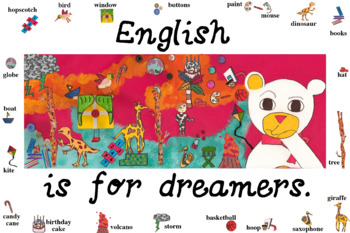 """""""English is for Dreamers"""" poster for your TEFL/ESL classroom!"""