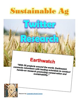 (Environment & Sustainability)  Earthwatch - Twitter Research