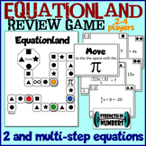 * Equationland!  2-Step and Multi-Step Equations Review Game Candyland *
