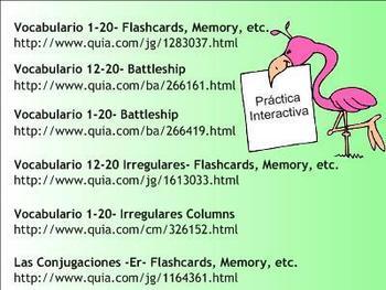 -Er and -Ir Spanish Verb Conjugation Lesson