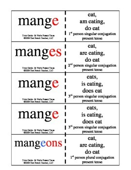 -Er verb Tutor Card and Packet present tense