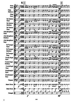"""""""Erie Canal"""" Mixed-Level Beginner Band Arrangement"""