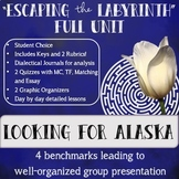 """""""Escaping the Labyrinth"""" Looking for Alaska (John Green) Full Unit"""