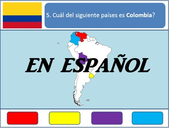 [Español] Powerpoint Game: South American Geography