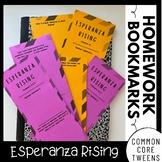 Esperanza Rising Interactive Homework Bookmarks