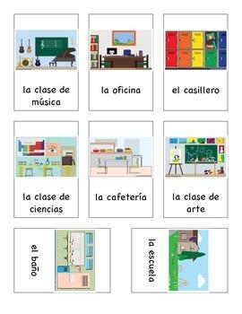 ¿Estás en ___? Game with places in the school