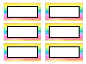 {Étiquettes arc-en-ciel} 22 EDITABLE rainbow watercolour multi-purpose labels