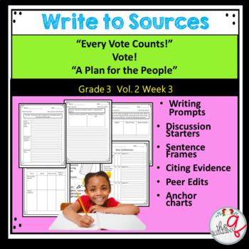 """""""Every Vote Counts!"""" Vote!  """"A Plan for the People"""" Write to Sources"""