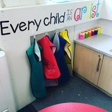 'Every child is an artist' quote for display
