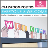 """""""Everyone is Welcome"""" Sign Language Classroom Posters"""